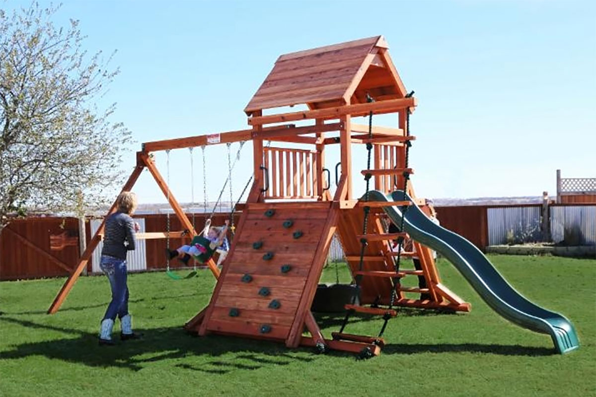 Cowtown Series Rustler - Backyard Fun Factory Play Sets & Swing Sets California |Swings-N-Things