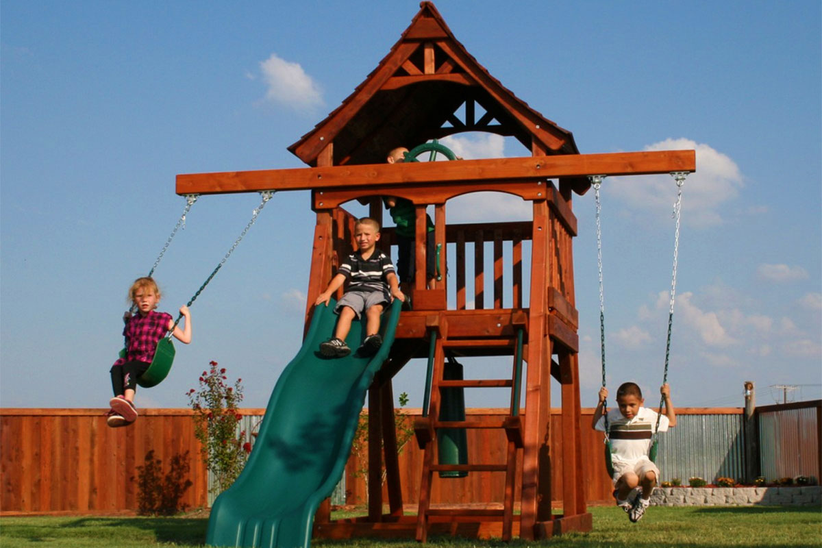swing sets for small spaces backyard factory play sets amp swing sets california 8419