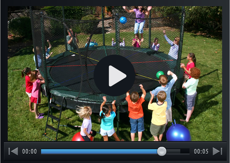 Double   	 		                        Bounce Trampolines